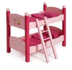 Bayer Chic Łóżko piętrowe dla lalek, różowe