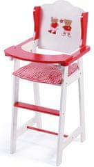 Bayer Chic Drewniane krzesełko do karmienia dla lalek, czerwone