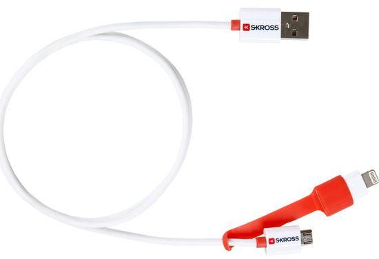 Skross 2 v 1 polnilnik micro USB in Lightning