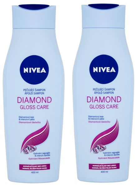 Nivea Šampon Diamond Gloss 400ml, 2ks