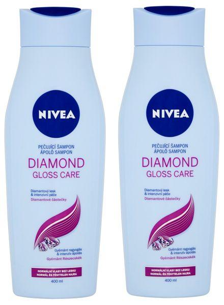 Nivea Šampon Diamond Gloss 400ml, 2ks