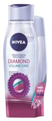 Nivea šampon 250 ml in balzam 200 ml Diamond Volume + elastika za lase