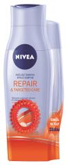 Nivea šampon 250 ml in balzam 200 ml Repair&Targeted Care + elastika za lase