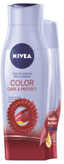 Nivea šampon 250 ml in balzam 200 ml Color Care&Protect + elastika za lase