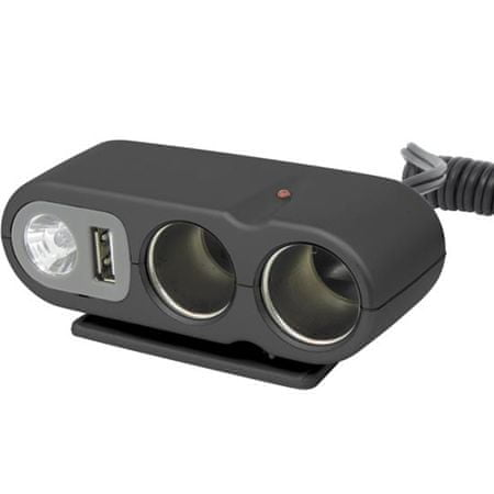 CarPoint USB/Szivargyújtó elosztó, 12 V