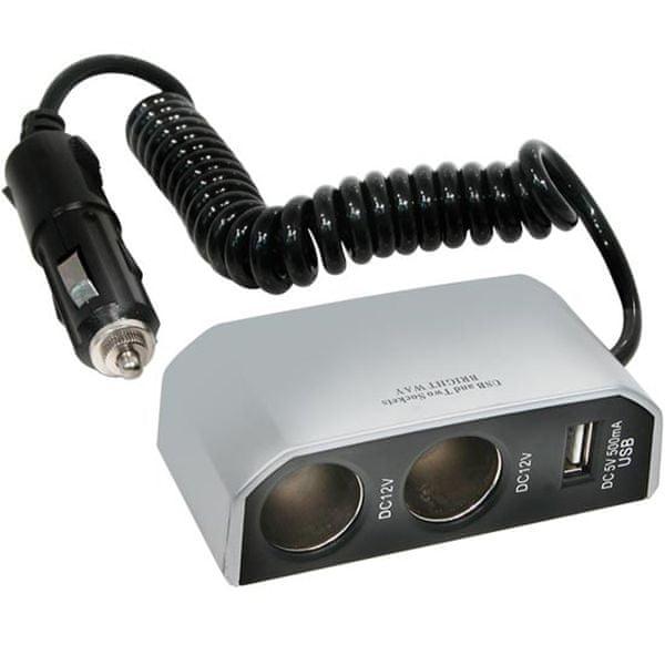 CarPoint Rozdvojka 12V - s USB přípojkou