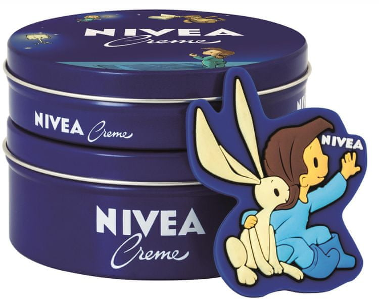 Nivea Krém 250ml + krém 150ml + pohádková magnetka dívka s králíčkem