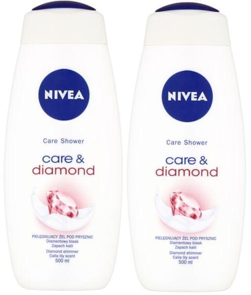 Nivea Sprchový gel Diamond Touch 500ml, 2ks
