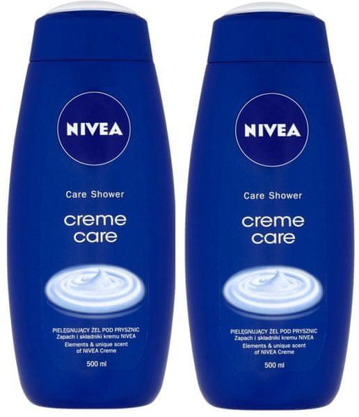 Nivea Sprchový gel Creme Care 500ml, 2ks