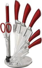 Berlingerhaus Sada nožů ve stojanu 8 ks Perfect Kitchen červená