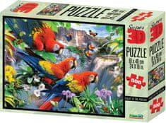 Lamps 3D Puzzle Papige, 500 kosov sestavljanke