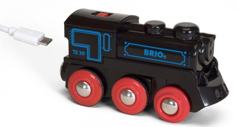 Brio El. lokomotiva nabíjecí přes mini USB kabel