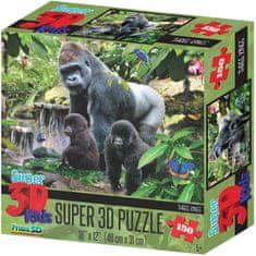 Lamps Puzzle 3D Małpia rodzina 150 el.
