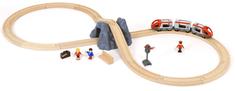 Brio Vláčikodráha s nákl. vlakom, podjazdom a cestou