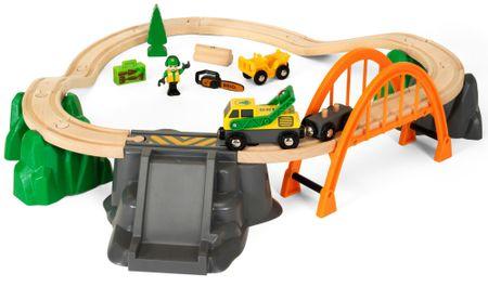Brio železniški komplet - pridobivanje lesa