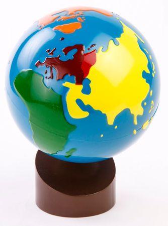 Montessori pomůcky Glóbus – barevné kontinenty - II. jakost