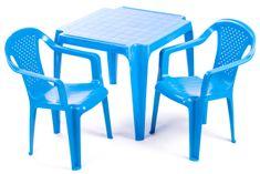 Grand Soleil Stolik i dwa krzesła dla dzieci, niebieskie