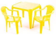 Grand Soleil Sada stolček a dve stoličky žltá