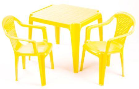 Grand Soleil Sada stoleček a dvě židličky žlutá