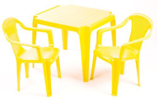 Grand Soleil Stolik i dwa krzesła dla dzieci, żółte  MALL PL -> Kuchnia Dla Dzieci Grand Soleil