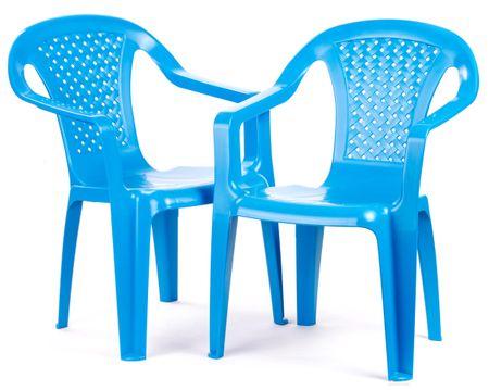 Grand Soleil 2 krzesła dla dzieci, niebieskie