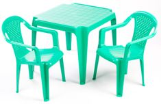 Grand Soleil Sada stolček a dve stoličky  zelená