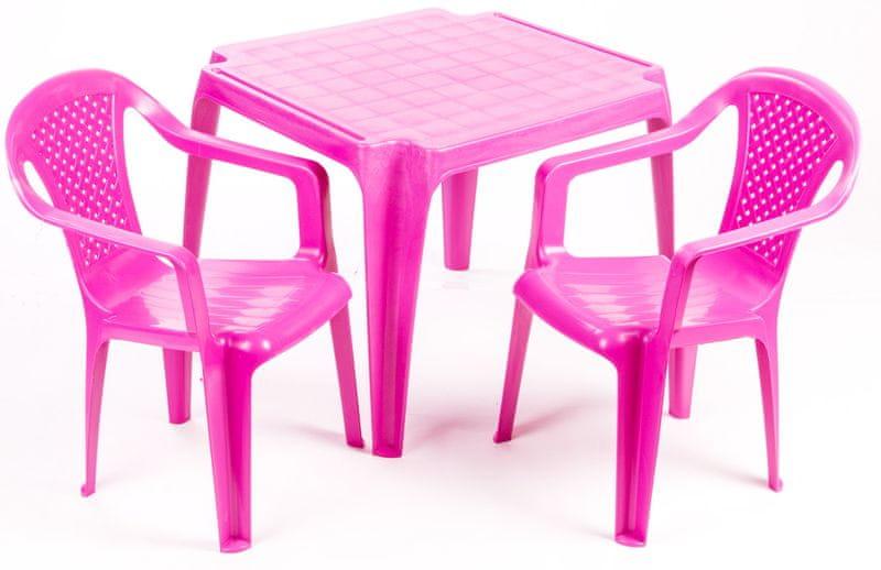 Grand Soleil Sada stoleček a dvě židličky růžová