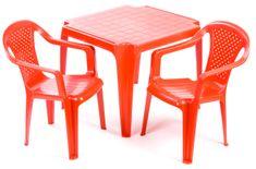 Grand Soleil Sada stolček a dve stoličky červené