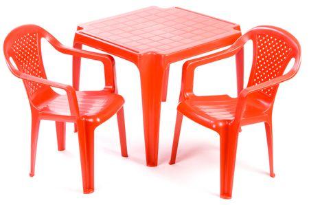 Grand Soleil Stolik i dwa krzesła dla dzieci, czerwone