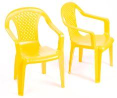 Grand Soleil 2 krzesła dla dzieci, żółte