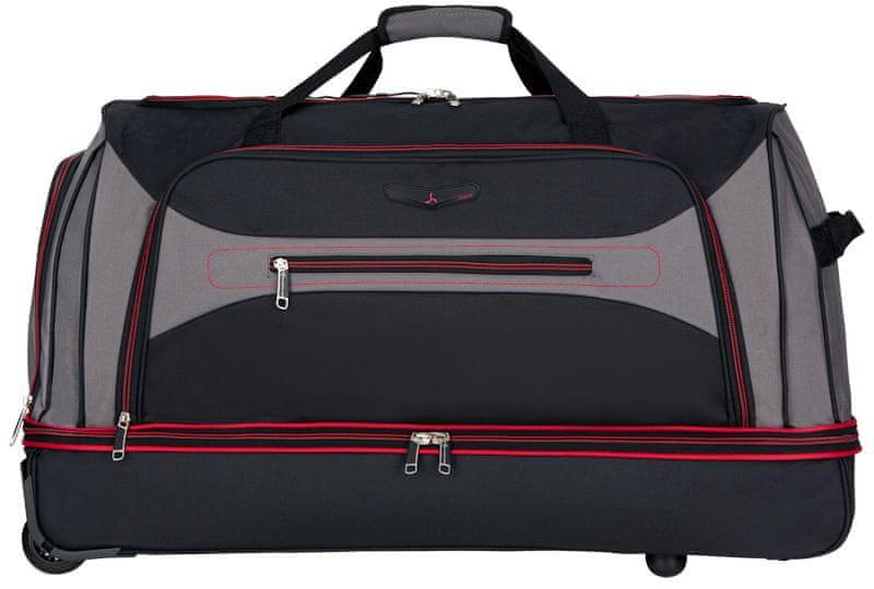 Sirocco Cestovní taška na kolečkách 101 l, červená