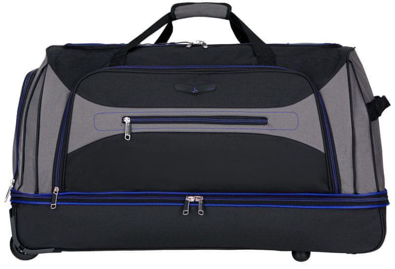 Sirocco Cestovní taška na kolečkách 101 l, modrá