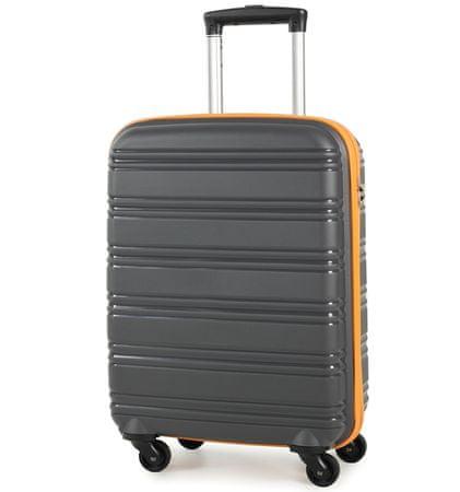REAbags Cestovní kufr ROCK TR-0125/3-50 PP šedá