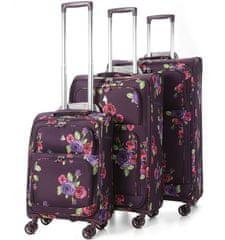 REAbags Aerolite Sada kufrov Floral Damson S, M, L