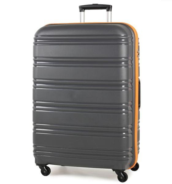 REAbags Cestovní kufr ROCK TR-0125/3-70 PP šedá