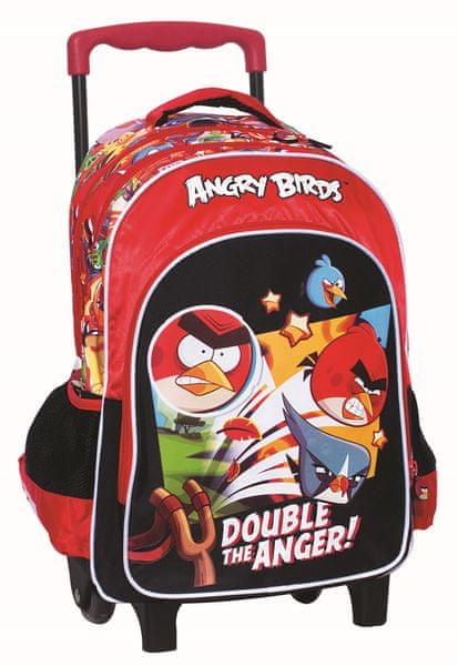 GIM Školní batoh na kolečkách – Angry Birds