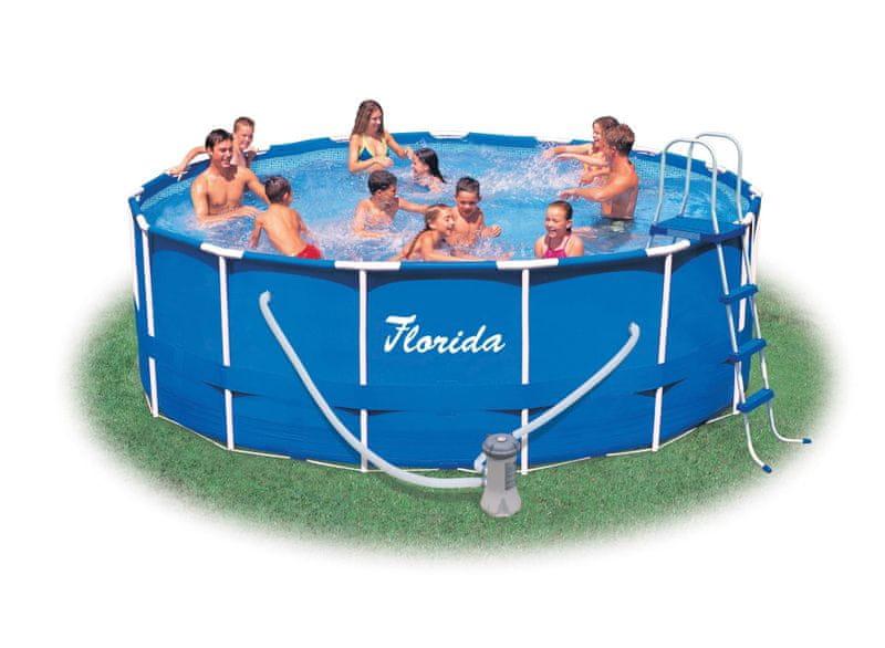 Marimex Florida 4,57 x 1,22 m KOMPLET - bazén, kartušová filtrace 4m³/h, schůdky, podložka pod bazén, krycí