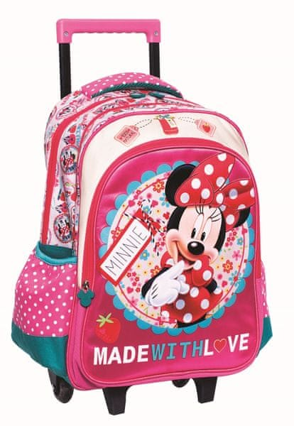 GIM Školní batoh na kolečkách - Minnie - růžový