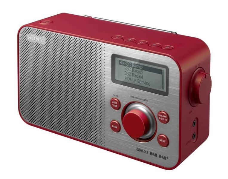 Sony XDR-S60DBPR, červená