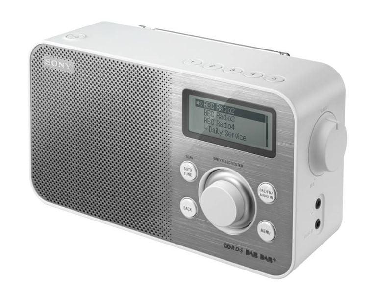 Sony XDR-S60DBPW, bílá