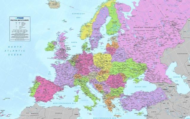 Postershop Fotoobraz mapa Evropy 81x51 cm