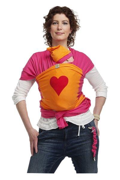 ByKay Design baby šátek velikost M oranžová