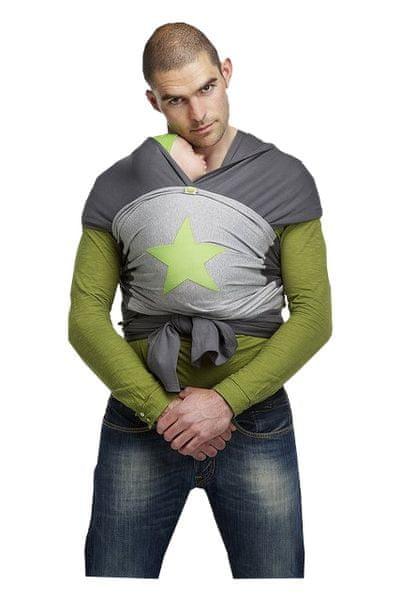 ByKay Design baby šátek velikost M šedá/zelená