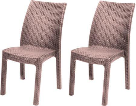 Allibert krzesła TOSCANA, cappucino - 2 szt.