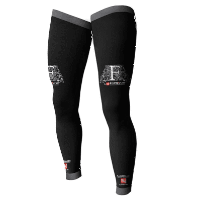 Compressport nogavički Full Leg 4+, črni