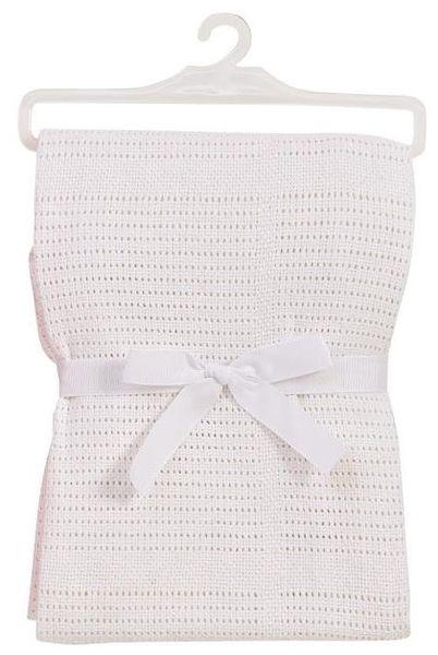 BabyDan Háčkovaná bavlněná deka New, bílá