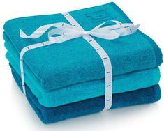Kela sada 3ks ručníků LADESSA - modrá
