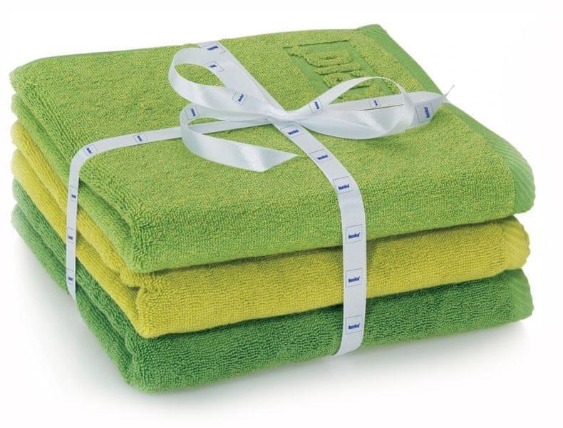 Kela sada 3ks ručníků LADESSA - zelená