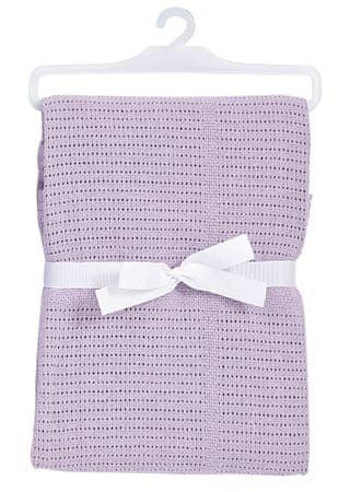 BabyDan Bawełniany koc 75x100 cm, fioletowy