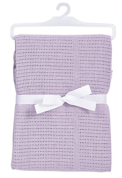 BabyDan Háčkovaná bavlněná deka New, fialová